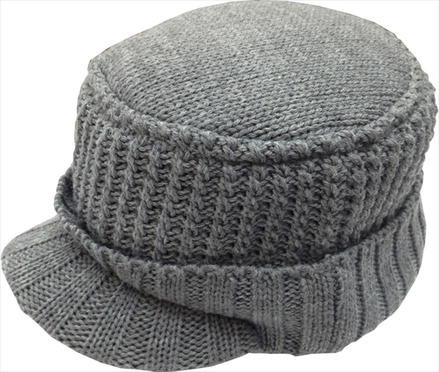 ラパラ Knit & Fleece Visor Work Cap Gray