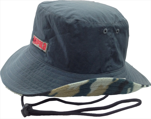 ラパラ Taffeta & Camo Fleece Hat Gray