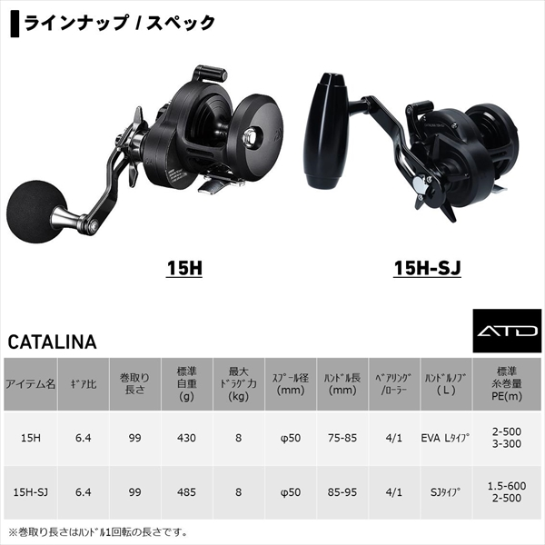Daiwa 20 Catalina 15H-SJ Right handle From Japan