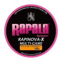 ラパラ ラピノヴァ・エックス マルチゲーム 100m 0.18号/6lb ピンク